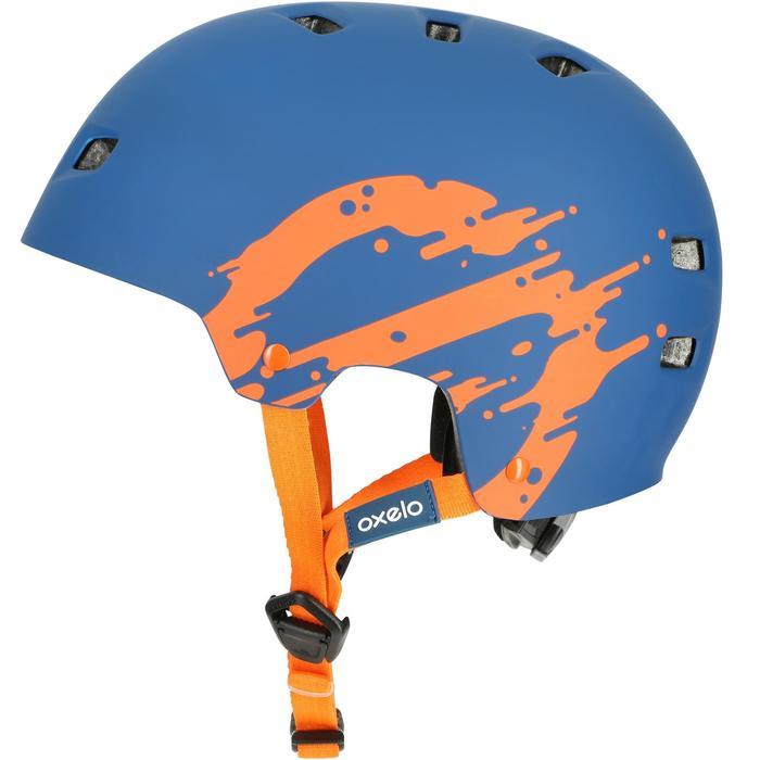 MF 7 Skate Skateboard Scooter Bike Helmet - Blue/Orange - 17220