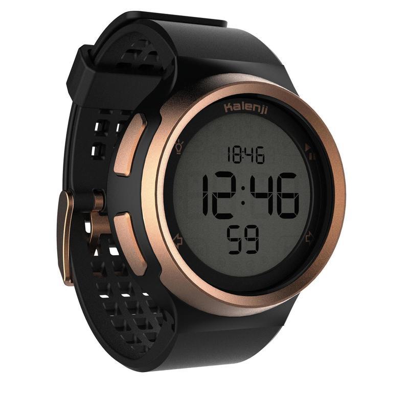 Pánské běžecké hodinky se stopkami W900 černo-měděné