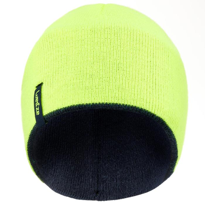 孩童滑雪帽REVERSE - 軍藍色/螢光黃色