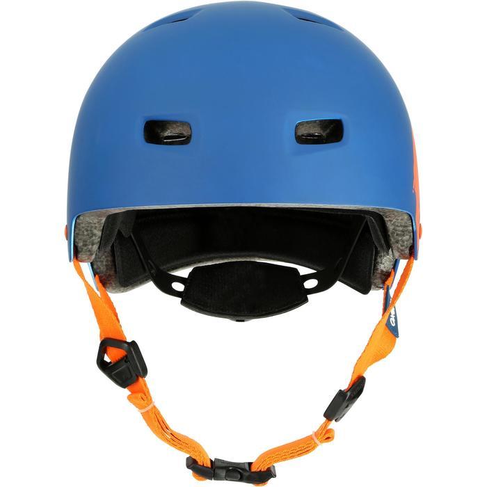 MF 7 Skate Skateboard Scooter Bike Helmet - Blue/Orange - 17221