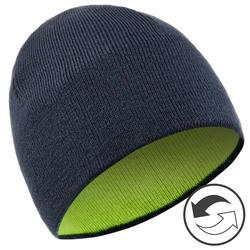 Skimütze wendbar Kinder marineblau/neongelb
