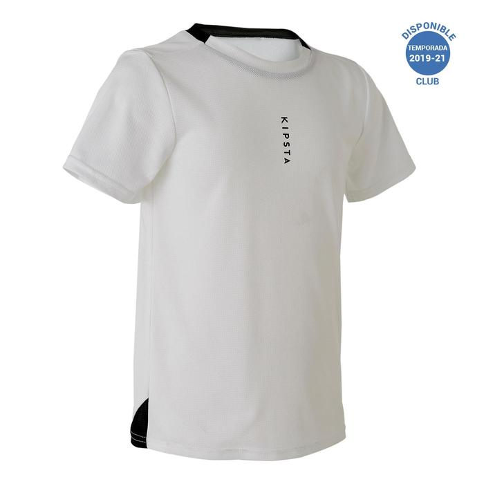 36a2e53ab19 Camiseta de Fútbol Kipsta F100 niños blanco