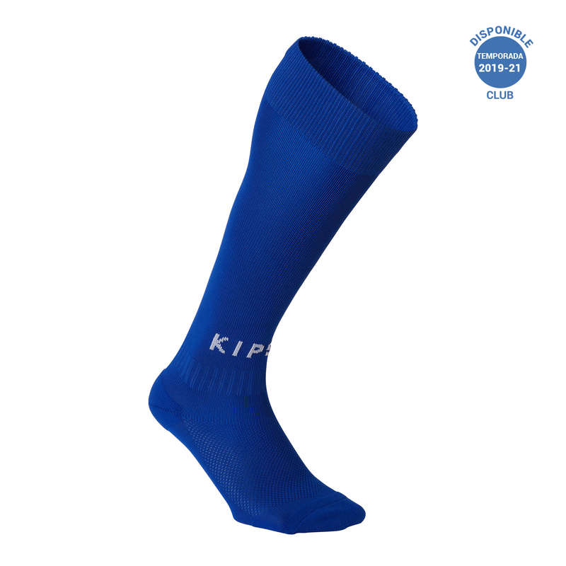 ADULT FOOT SOCKS Piłka nożna - Skarpety F100 niebieskie KIPSTA - Odzież piłkarska