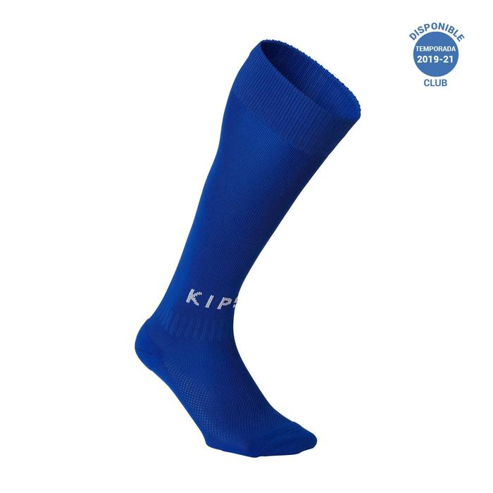 Medias de fútbol niños F100 azul índigo