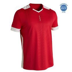 Camiseta de fútbol adulto F500 rojo
