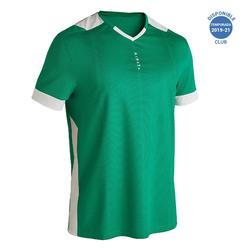Camiseta fútbol adulto F500 verde