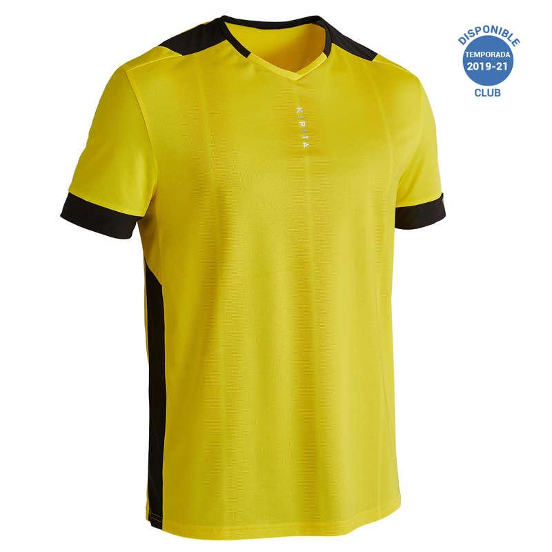 ABBIGLIAMENTO CALCIO ADULTO LEGGERO Sport di squadra - Maglia calcio F500 gialla KIPSTA - Abbigliamento calcio