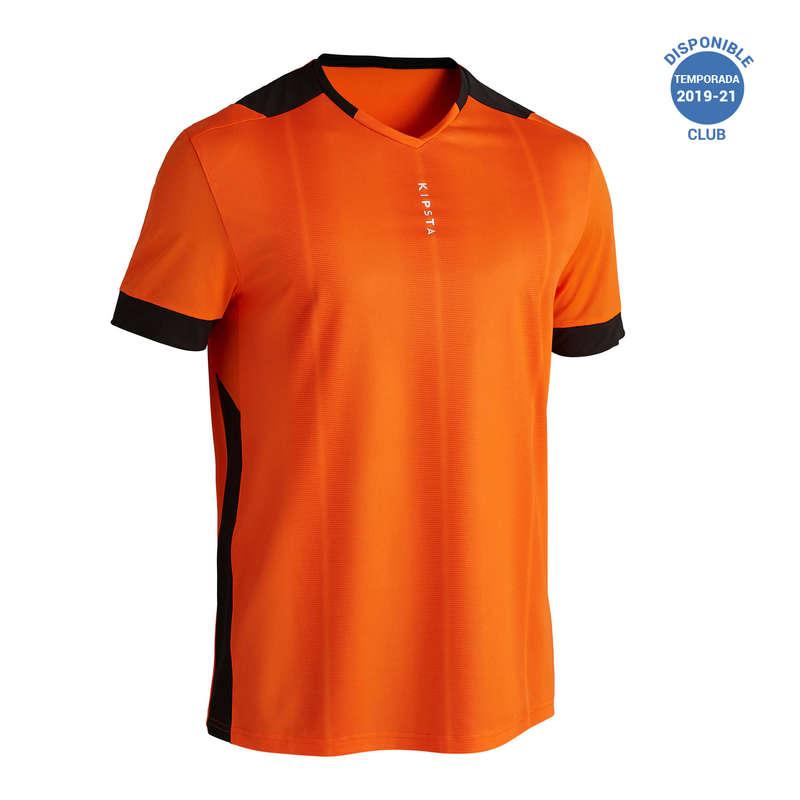 ABBIGLIAMENTO CALCIO ADULTO LEGGERO Sport di squadra - Maglia calcio F500 arancione KIPSTA - Abbigliamento calcio