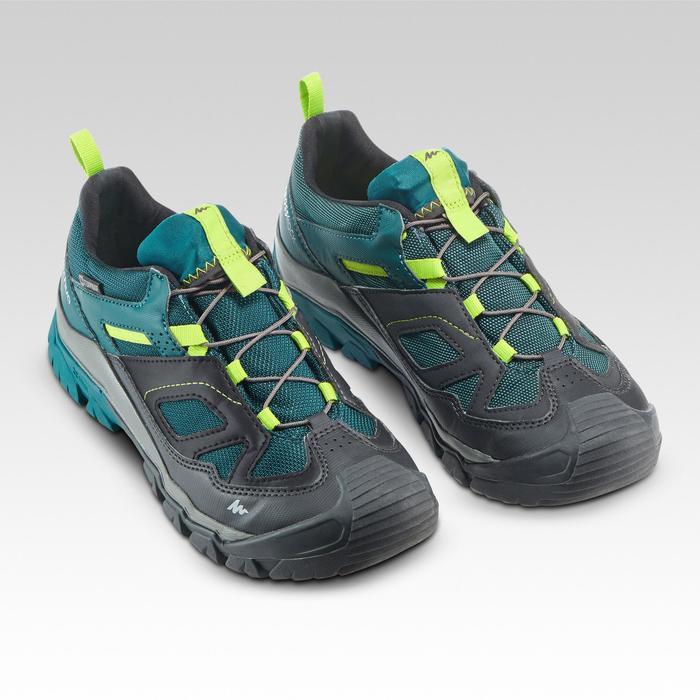Chaussures de randonnée enfant avec lacet CROSSROCK imperméables vertes 35-38