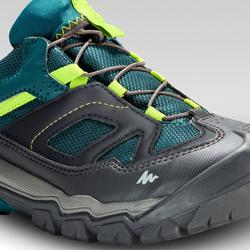 Kids' Lace-up Waterproof Hiking Boots CROSSROCK - Green