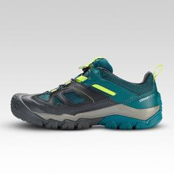Children's lace-up waterproof hiking shoes CROSSROCK - green