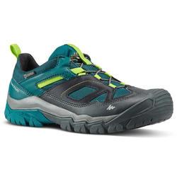 Waterdichte wandelschoenen voor kinderen Crossrock veters groen 35-38