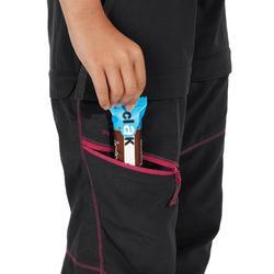 Zip-Off-Hose Wandern MH550 Kinder schwarz