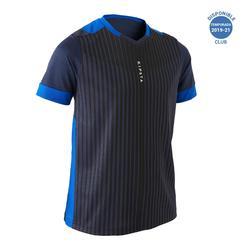 Camiseta de Fútbol júnior Kipsta F500 azul marino y azul