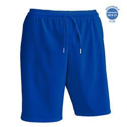 Pantalón corto de Fútbol adulto Kipsta F500 azul