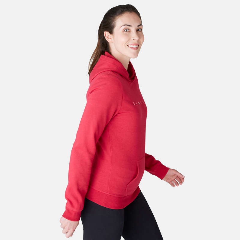 WOMAN PANT JACKET SWEAT Clothing - 520 Gym Sweatshirt - Red DOMYOS - Tops