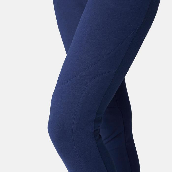 Damesbroek voor pilates en lichte gym 510 slim fit marineblauw