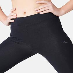 Legging Fit+ 500 slim Pilates Gym douce femme noir