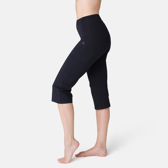 Corsaire de sport femme taille haute Fit+ 500 noir