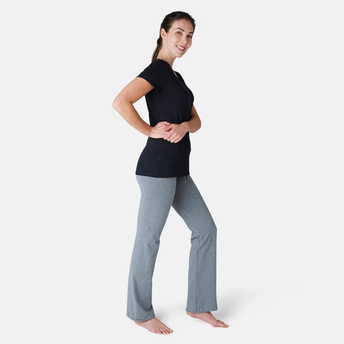 Women's Regular Fitness Leggings Comfort+ 500 - Mottled Grey