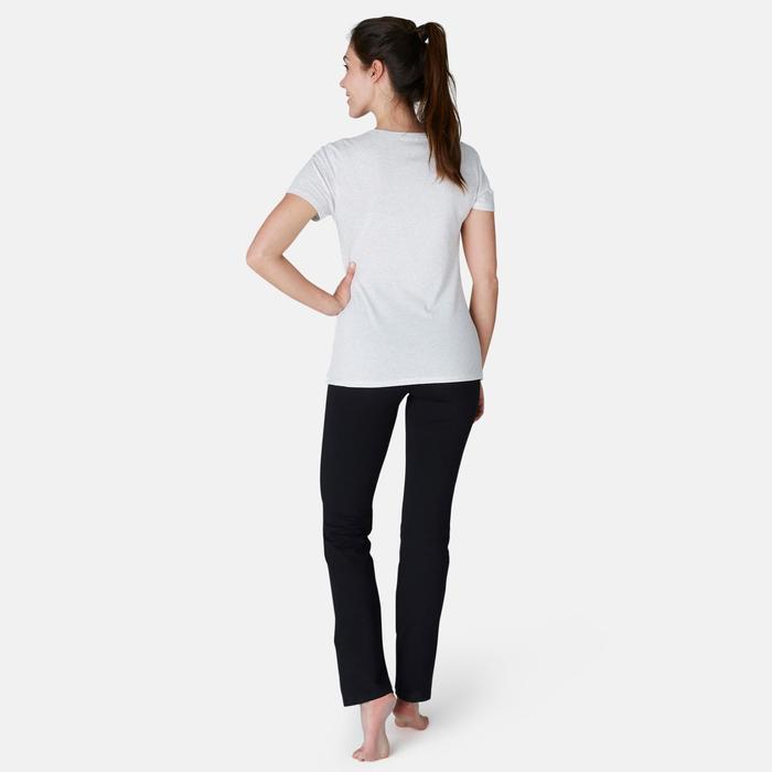 Legging Fit+ 500 regular fit pilates en lichte gym dames zwart