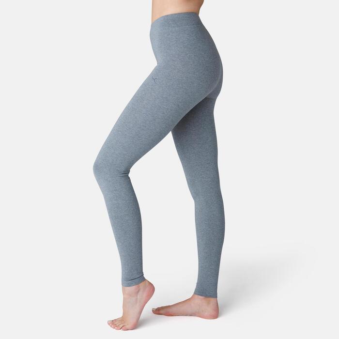 Legging Fit+ 500 slim Fitness femme gris