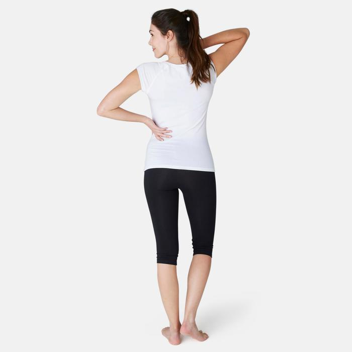 Fitness kuitbroek dames Fit+500 slim fit zwart