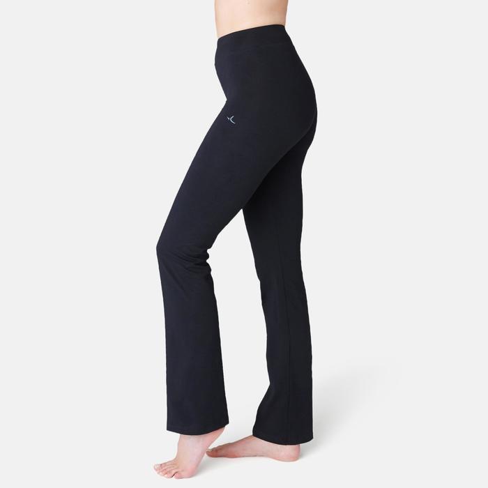 Leggings Fit+ 500 Regular Pilates sanfte Gym Damen schwarz