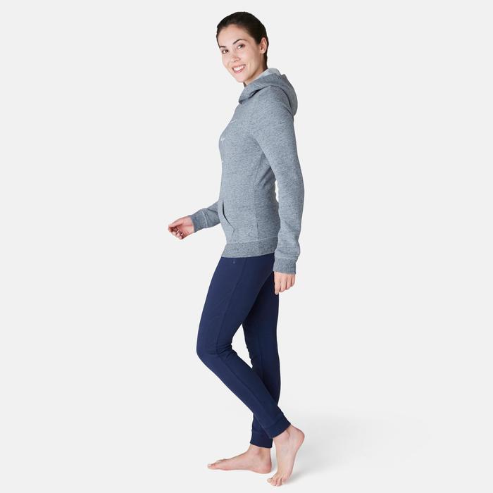 Kapuzenpullover 520 Pilates sanfte Gymnastik Damen grau