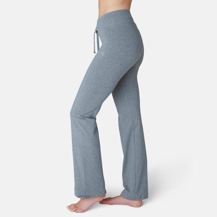 Legging Confort+ 500 regular Pilates Gym douce femme gris chiné