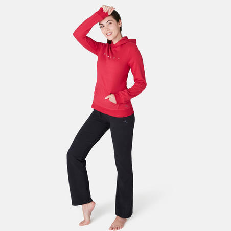 Chandail 520capuchon pilates et gym douce femme rouge