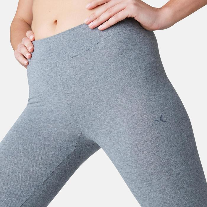 Legging Fit+ 500 slim Pilates Gym douce femme gris