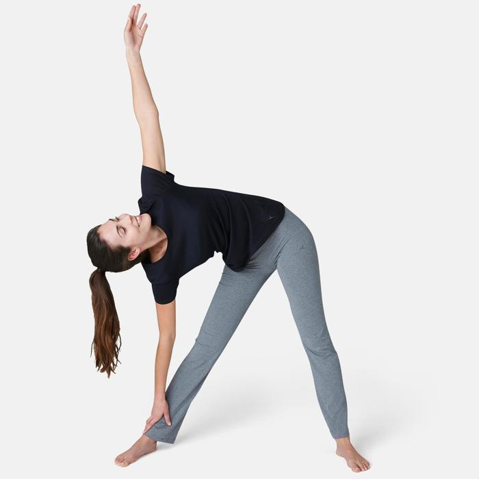 Leggings Fit+ 500 Regular Gym & Pilates Damen grau meliert