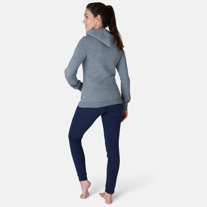 Jogginghose 510 Slim Pilates sanfte Gymnastik Damen marineblau
