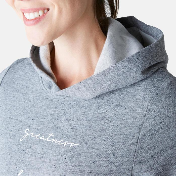 Sweat 520 capuche Pilates Gym douce femme gris