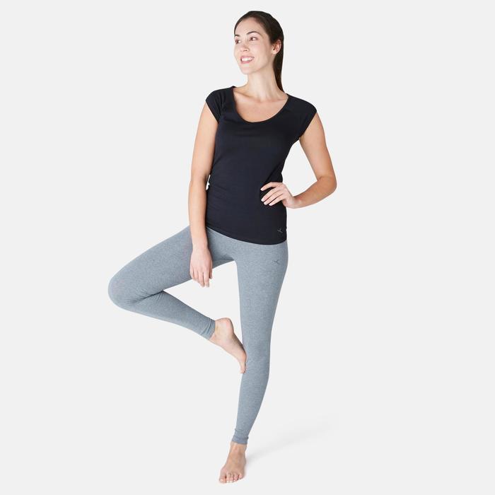 Fit+ 500 Women's Slim-Fit Gentle Gym & Pilates Leggings - Grey