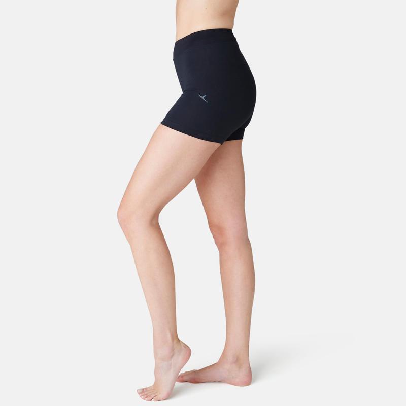 500 Fit+ Women's Slim-Fit Gym Shorts - Black