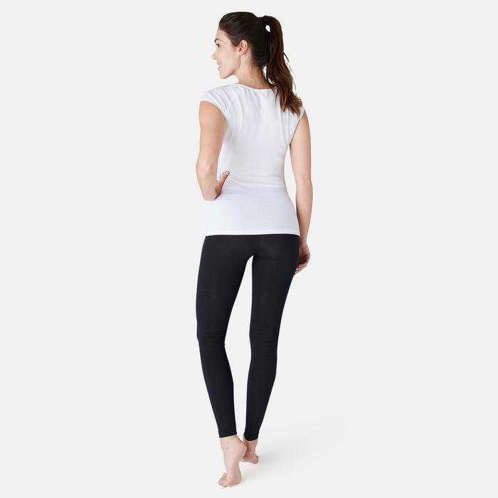 Leggings Fit+ 500 Slim Gym & Pilates Damen schwarz