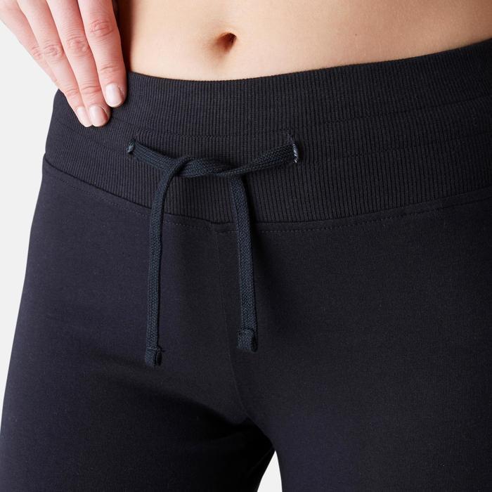 Legging Confort+ 500 regular Pilates Gym douce femme noir