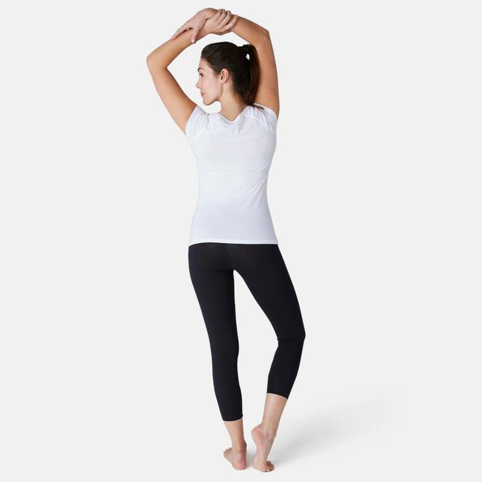 7/8-Leggings Fit+ 500 Slim Gym & Pilates Damen schwarz