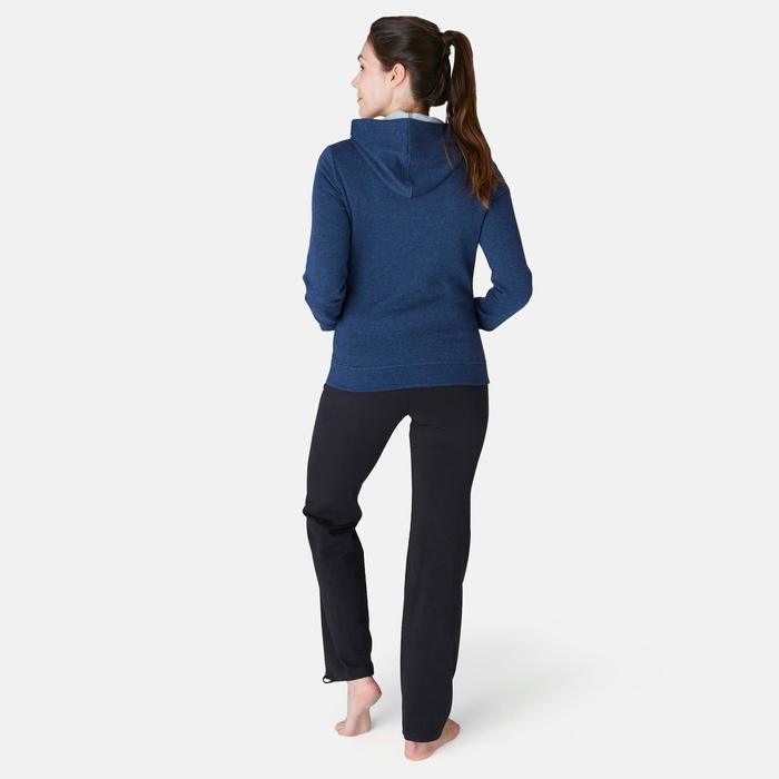 Kapuzenpullover 520 Pilates sanfte Gymnastik Damen blau
