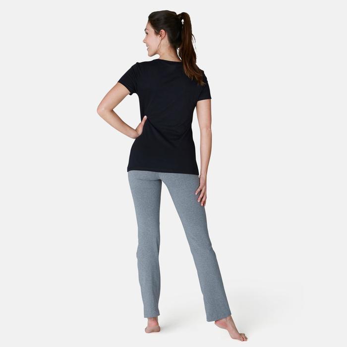 Leggings Fit+ 500 regular Pilates y Gimnasia suave mujer gris jaspeado