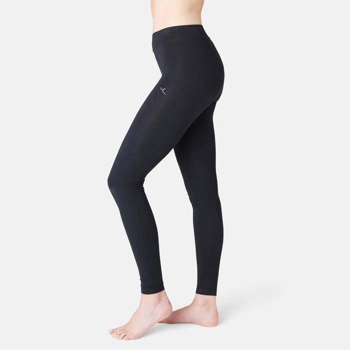 500 Fit+ Women's Slim-Fit Pilates & Gentle Gym Leggings - Black