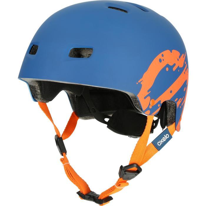 MF 7 Skate Skateboard Scooter Bike Helmet - Blue/Orange - 17224