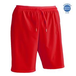 Pantalón corto de fútbol para adulto F500 rojo