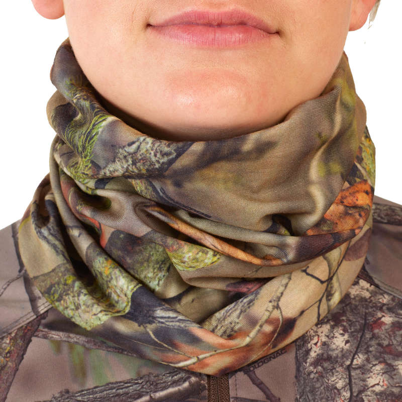 CAMO CLOTHING DRY/WET WEATHER - Neck Gaiter 100 - Forest Camo SOLOGNAC