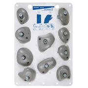 CLIMBING HOLDS VERTIKA JUGS MEDIUM X10 - LIGHT GREY