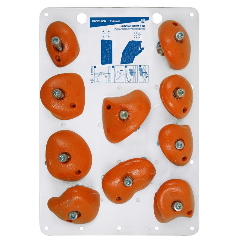 Klimgrepen Jugs medium oranje x10