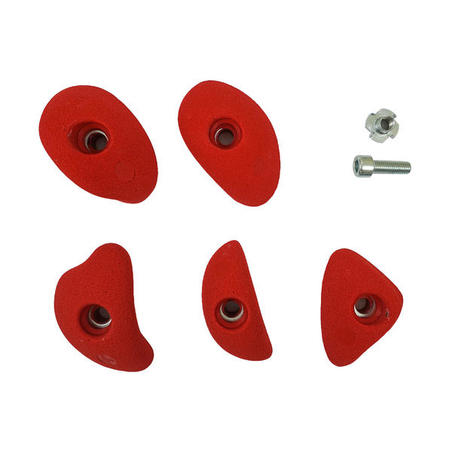 CLIMBING HOLDS - CRIMPS SMALL X5 - RED