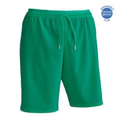 Pantalón corto de fútbol adulto F500 verde